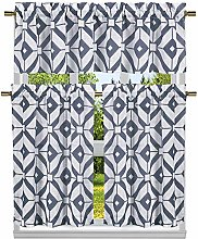 Duck River Textile Geometric Kitchen Curtain &