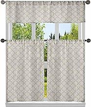 Duck River Textile Geometric Kitchen Curtain &