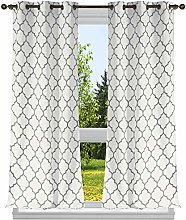 Duck River Textile Geometric Window Curtain Set,