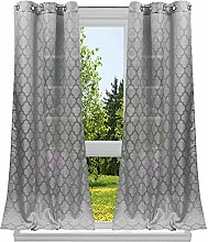 Duck River Textile Geometric Window Curtain Set,