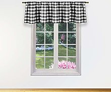 Duck River Textile Kitchen Valance, Black, 58x15