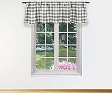Duck River Textile Kitchen Valance, Grey, 58x15
