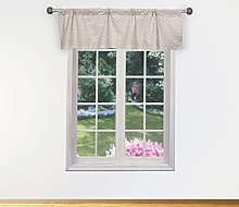 Duck River Textile Kitchen Valance, Mocha, 58x15