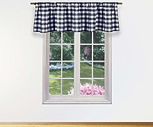 Duck River Textile Kitchen Valance, Navy, 58x15