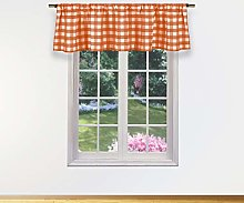 Duck River Textile Kitchen Valance, Orange, 58x15