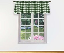 Duck River Textile Kitchen Valance, Sage, 58x15