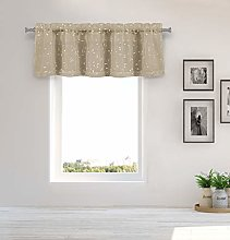 Duck River Textile Kitchen Valance, Taupe-Gold,