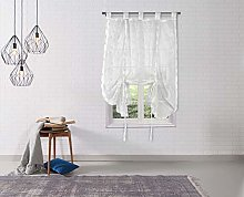 Duck River Textile Kitchen Valance, White, 54x18