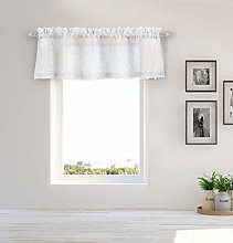 Duck River Textile Kitchen Valance, White, 56x15