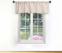 Duck River Textile Kitchen Valance, White-Silver,