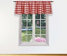 Duck River Textile Kitchen Valance, Wine, 58x15