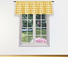 Duck River Textile Kitchen Valance, Yellow, 58x15