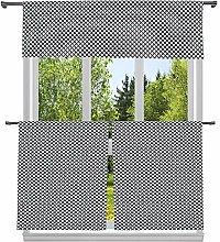 Duck River Textile Print Kitchen Curtain & Tier