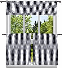 Duck River Textile Print Kitchen Curtain & Tier