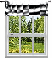 Duck River Textile Print Kitchen Valance, Black,