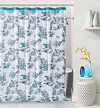Duck River Textile shower curtain, Aqua Blue, 72x72