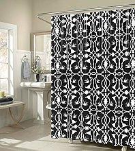 Duck River Textile shower curtain, Black, 72x72