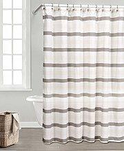 Duck River Textile Shower Curtain, Coffee-Linen,