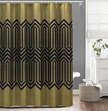 Duck River Textile shower curtain, Gold-Black,