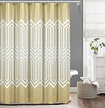 Duck River Textile shower curtain, Gold-White,
