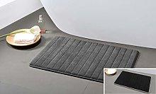 Duck River Textile shower curtain, Grey-Black,