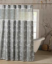 Duck River Textile shower curtain, Silver, 72x72