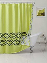 Duck River Textile shower curtain, Yellow-Green