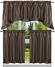 Duck River Textile Solid Kitchen Curtain & Tier