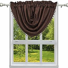 Duck River Textile Solid Kitchen Valance,