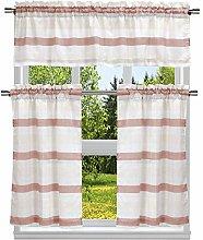 Duck River Textile Stripe Kitchen Curtain & Tier