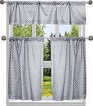 Duck River Textile Stripe Kitchen Curtain & Tier