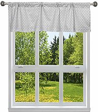 Duck River Textile Stripe Kitchen Valance, Grey,