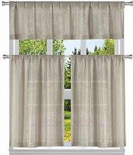 Duck River Textile Striped Kitchen Curtain & Tier