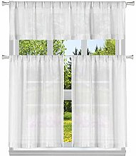 Duck River Textile Striped Kitchen Curtain & Tier