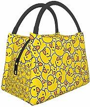 Duck Yellow Kids Retro Dachshund Puppy Lunch Bag