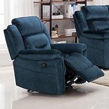 Dudley Fabric Upholstered Recliner Chair In Nett