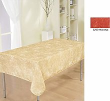 Duffi Home Stain Resistant Tablecloth Orange 145 x