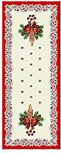 Duffi Home Table Runner, White, 40 x 90 cm