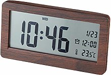 Dugena Alarm Clock, Wood, Dark Brown, 148 x 78 x