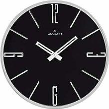 Dugena Wall Clock, Metal, Silver, 30 cm