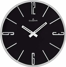 Dugena Wall Clock, Metal, Silver, 30 cm