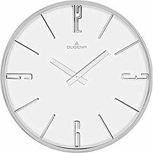 Dugena Wall Clock, Metal, White, 30 cm