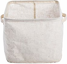 DUGURUI Canvas Open Storage Bin with Handles,