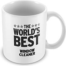 Duke Gifts BLACK Worlds Best Window Cleaner Mug 425