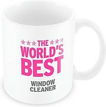 Duke Gifts PINK Worlds Best Window Cleaner Mug 425