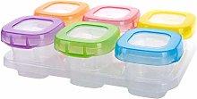 DULALA Food Storage 6pcs Mixed Colors Baby Weaning