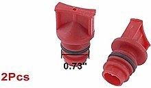 DULALA Male Thread Plastic Oil stopper 2 Pcs Air