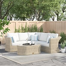 Dulce 5 Seater Rattan Corner Sofa Set Zipcode