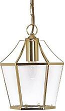 Dulverton Pendant Polished Brass Finish