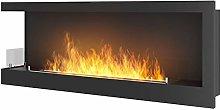 Dumas Bioethanol Fireplace Recessed 120x45cm with